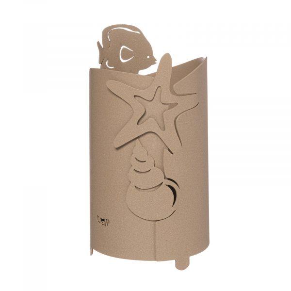 Porta bottiglia con decorazioni marine Nettuno