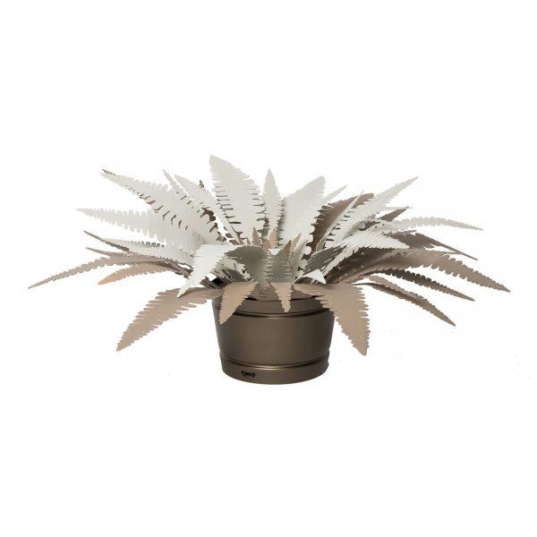 lampada da terra pianta felce di Art e Mestieri in Bronzo
