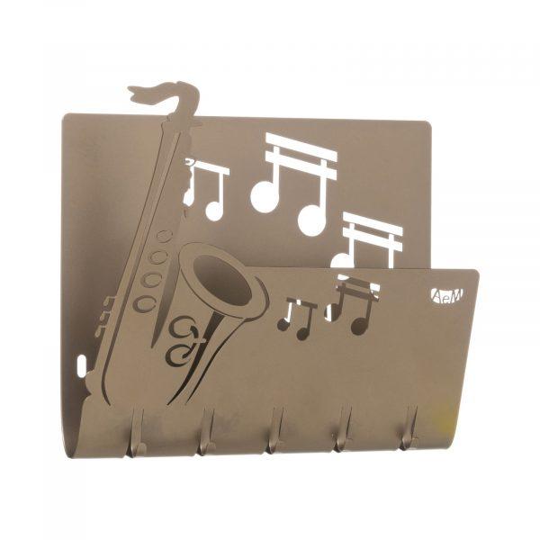 Porta chiavi e porta lettere musicale Sax