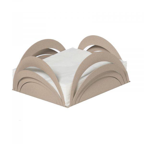 Porta tovaglioli basso con linee curve Origami di Arti e Mestieri